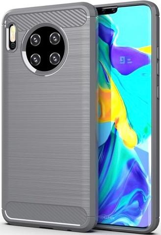 Чехол для Huawei Mate 30 цвет Gray (серый), серия Carbon от Caseport