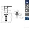 Встраиваемый смеситель для биде RS-Q SA9323 - фото №2