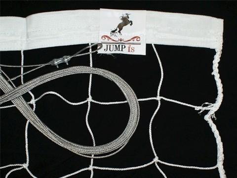 Сетка волейбольная № 3,1, белая, размер 9,5 м* 1м, диаметр нити 2,5 мм: (00007261-3.1-ЛБн3.0тр2.0-):
