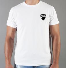 Футболка с принтом Ducati (Дукати) белая 0019