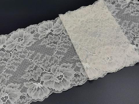 Эластичное кружево, 22см, кремовое, (Арт: EK-2011), м