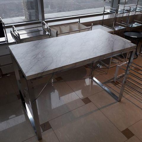 Письменный стол CD-2148-MA MK-6344-MA 60х114х76 см Хром/мрамор