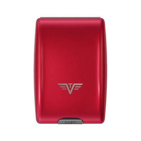 Кошелек c защитой Tru Virtu Oyster, красный , 102x70x27 мм
