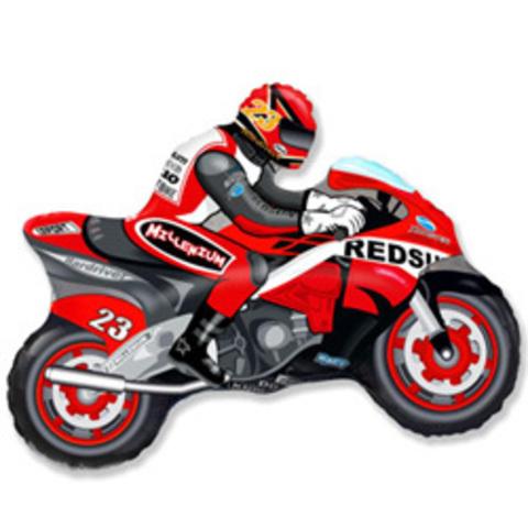 шар мотоцикл красный