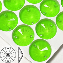 Купить оптом пришивные стразы неоновые Neon Green, Rivoli