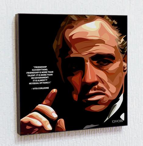 Картина постер Вито Корлеоне (Крёстный отец) в стиле ПОП-АРТ