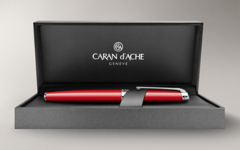 Carandache Leman - Scarlet Red Lacquer SP, шариковая ручка, F
