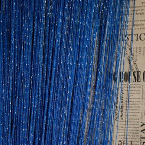 Шторы дождь однотонные - Синие. Ш-300см., В-280см. Арт.208