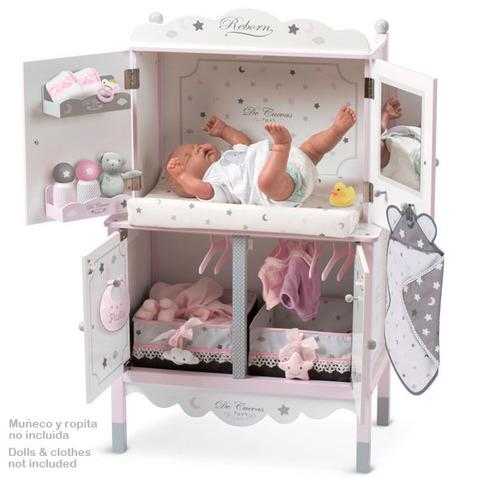 Деревянный игровой центр  с аксессуарами для куклы серии