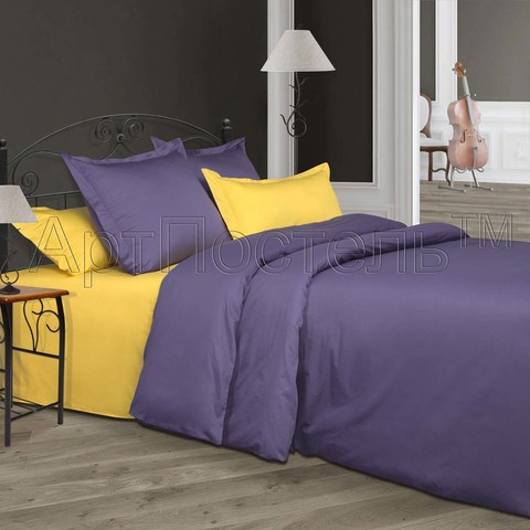 Комплект постельного белья 1,5 спальный Сатин Мальва