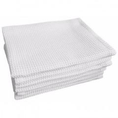 Полотенце вафельное 40х80 плотн.150гр/м2, отбелен., 10шт