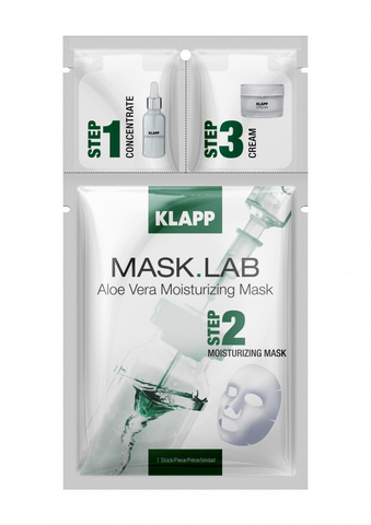 Трёхшаговый набор экспресс-ухода за кожей Aloe Vera Moisturizing MASK.LAB, KLAPP