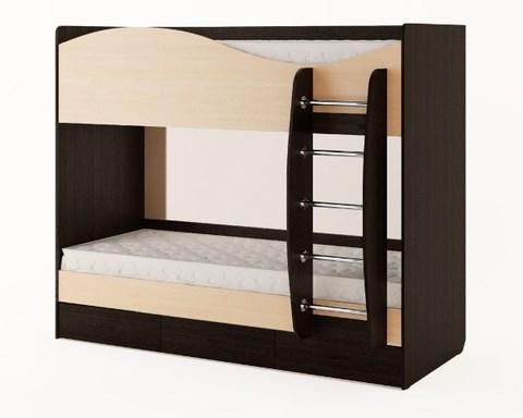Кровать КР-05 венге / дуб беленый