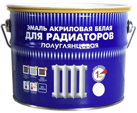 Радуга 178 эмаль для металла и радиаторов отопления акриловая белая полуглянцевая не желтеет для наружных и внутренних работ 3кг