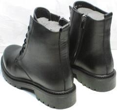 Утепленные ботинк женские модные демисезон Misss Roy 252-01 Black Leather.