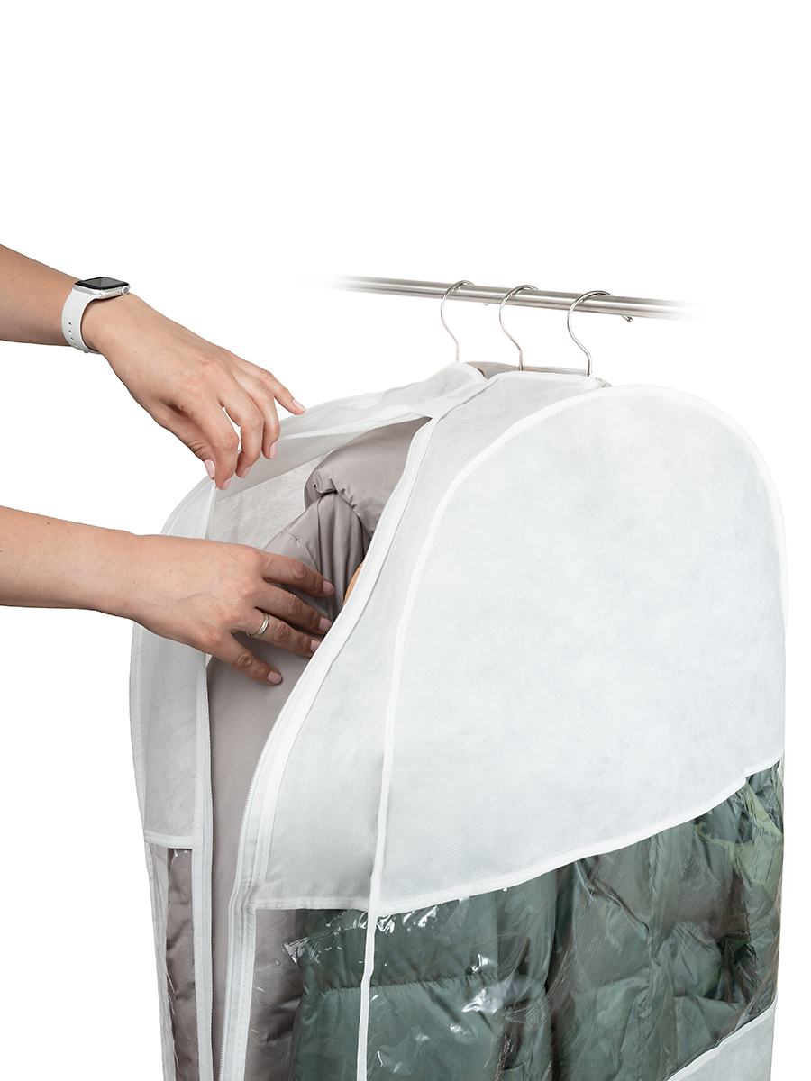 Чехол для одежды двойной короткий 100х60х20 см, Санторини
