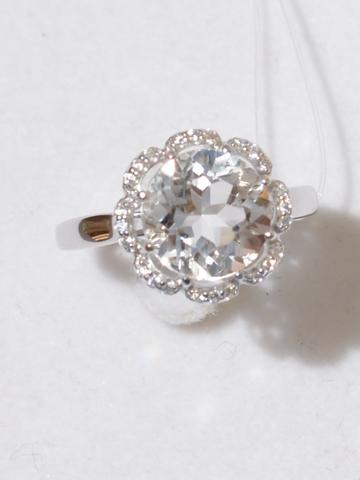Кольцо с горным хрусталем малое(кольцо из серебра).