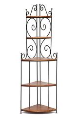 Угловая этажерка Secret De Maison Люберион (Luberon) (mod 1) — дерево палисандр/металл