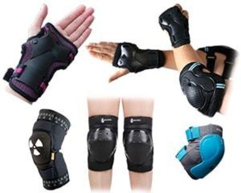 Купити захист на коліна, лікті, долоні для велосипедистів і ролерів
