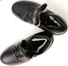 Кожаные ботинки мужские зимние кроссовки на натуральном меху Nike Air Jordan 1 Retro High Winter BV3802-945 All Black