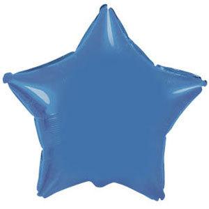 Фольгированный шар Звезда BLUE 18