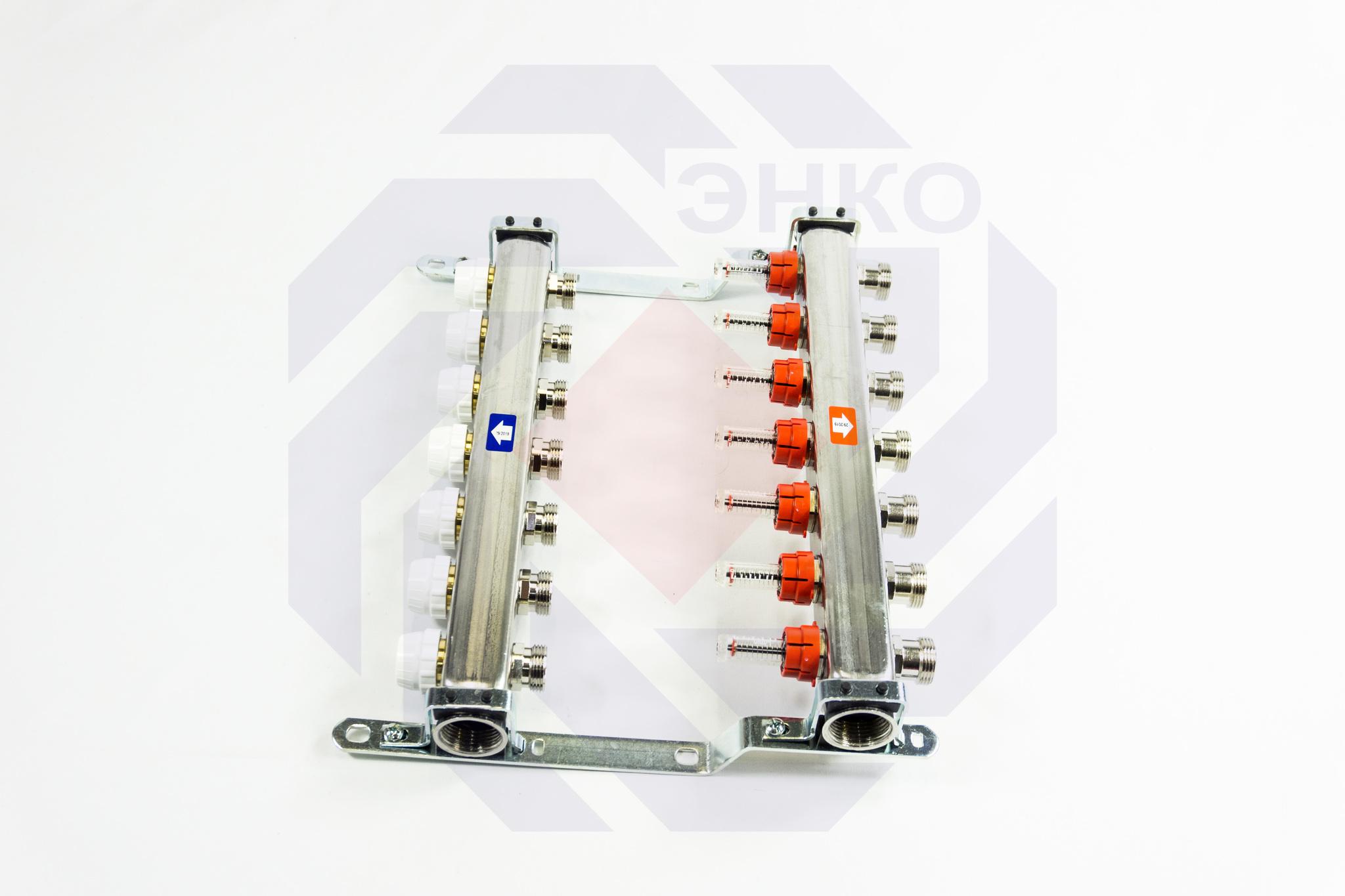 Комплект коллекторов с расходомерами ITAP 918C 7 контуров