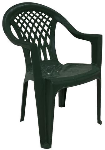 Кресло пластиковое тёмно-зелёное