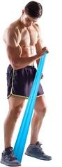 Rezin band \ Жгут спортивный резиновый \ Resistive Exercise Bands blue