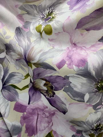 Блэкаут цветы фиолетовые. Арт. КL-11-02