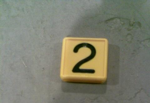 24748169 Цифра 2 для ошейника
