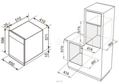 Духовой шкаф электрический Zigmund & Shtain EN 242.622 S - схема