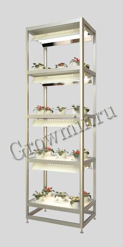 Стеллаж для растений с подсветкой (КЛЛ светильники по 110 W и 220 W)