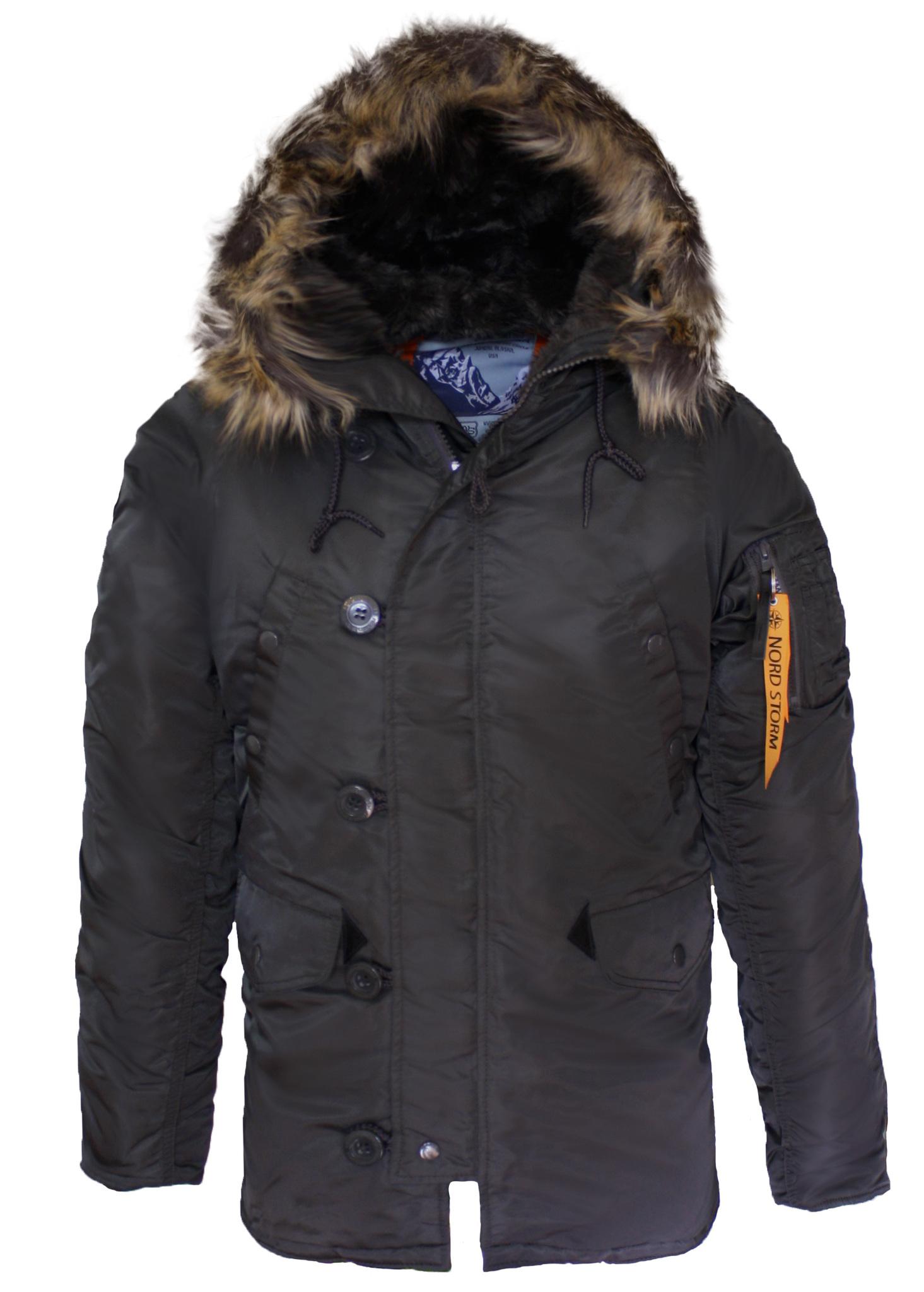 Куртка Аляска  Nord Storm N-3B Husky (т. серая - beluga/orange)