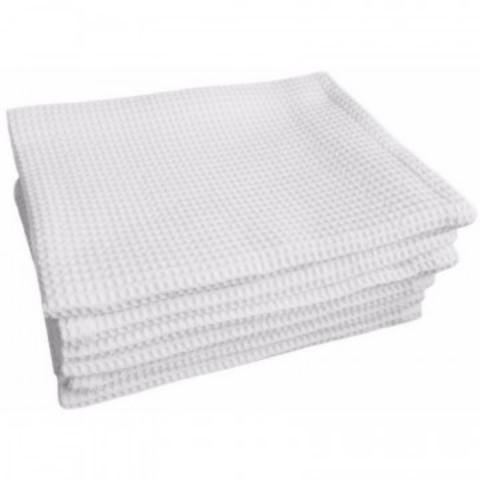 Полотенце вафельное 35х80 плотн.120гр/м2, отбелен., 10шт