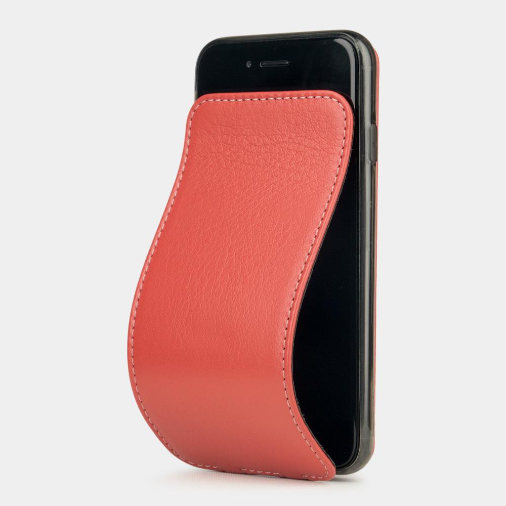 Чехол для iPhone 8/SE из натуральной кожи теленка, кораллового цвета