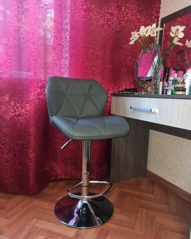Сиденье для барного стула Диамонд/Diamond, экокожа, серое (сидение)