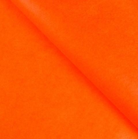 Бумага упаковочная тишью, оранжевая, 50 х 66 см