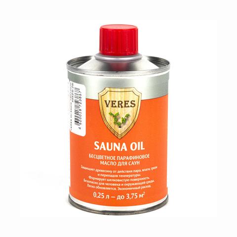 Парафиновое масло для саун VERES Oil Sauna (Верес) 0,25л бесцветный