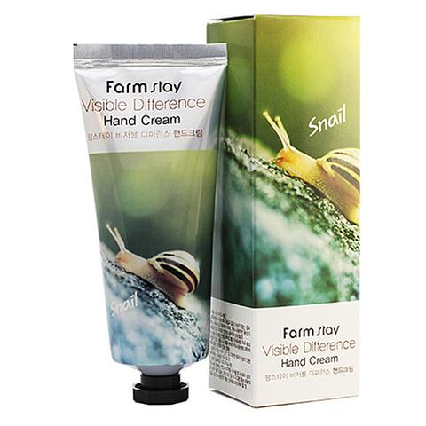 FarmStay Крем для рук с муцином улитки - Snail visible difference hand cream, 100г