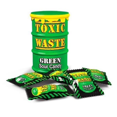 Кислые леденцы Toxic Waste Green 42 гр