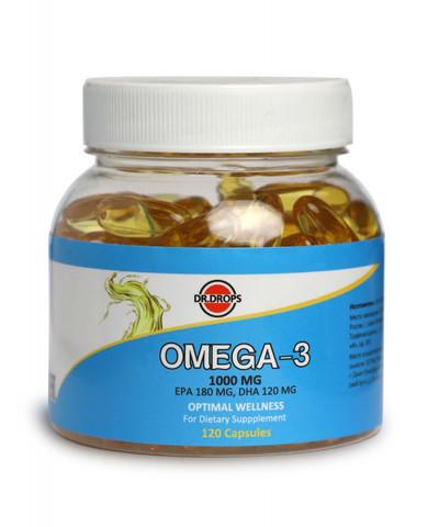 Омега-3 120шт Dr.Drops в желатиновых капсулах