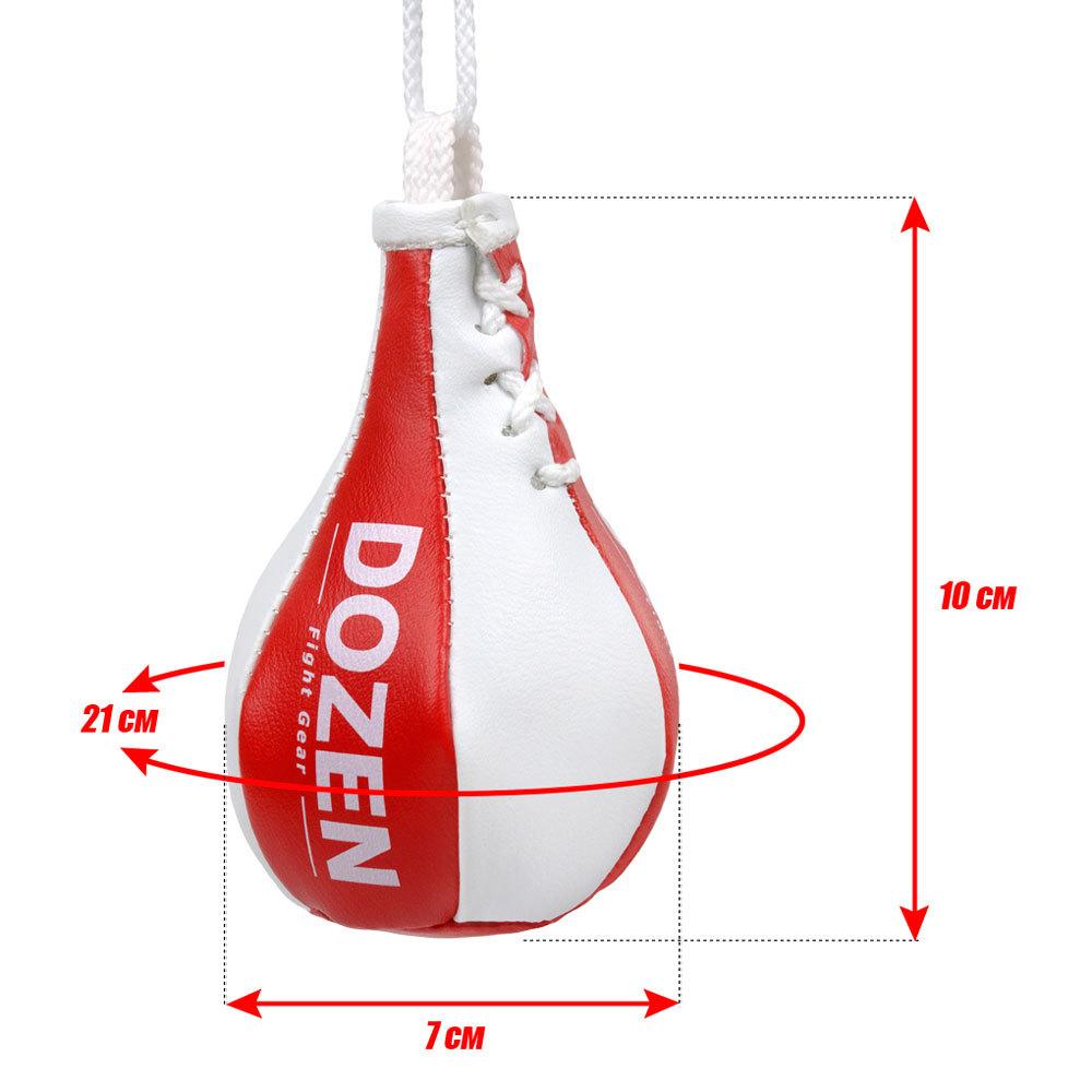 Брелок мини-груша Dozen Light красно-белый размеры