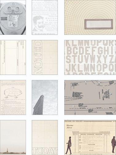 Набор журнальных карточек для Project Life 12шт