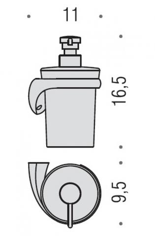 Дозатор для жидкого мыла Colombo Link  B9310DX, хром схема