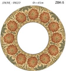 Эскиз для росписи, Зеркало диаметр-45см, SMAR-ZBK-5