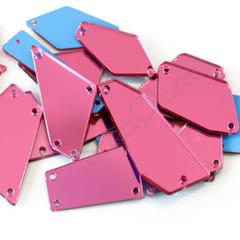 Купить набор больших пришивных зеркал розовых Pink (Rose, Fuchsia)
