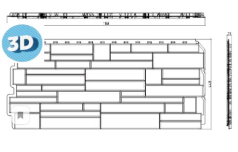 Фасадная панель Альта Профиль Скалистый Камень Алтай 1160х450 мм
