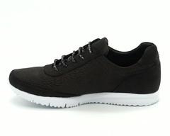 Черные кроссовки из натурального нубука