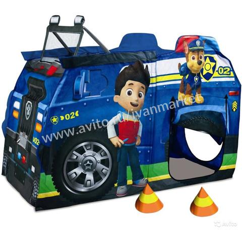 Полицейская машина,палатка Щенячий патруль