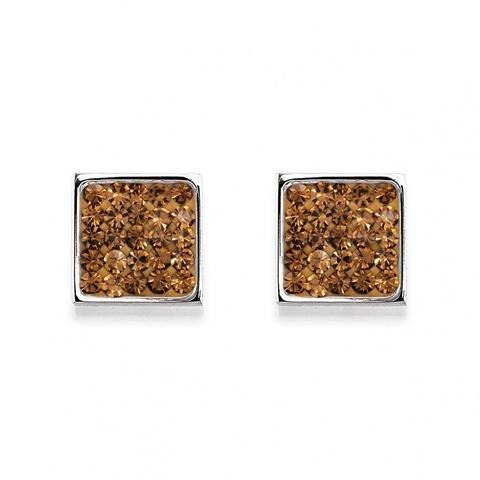 Серьги Coeur de Lion 0117/21-1120 цвет коричневый, серебряный